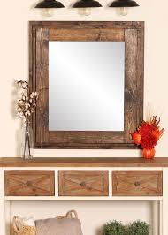 x 36 in w brown framed wall mirror