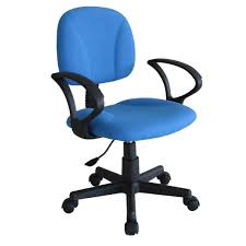 blue office chair  office table