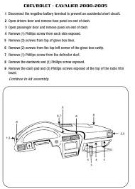 2001 cavalier stereo wiring diagram wirdig wiring diagrams 2005 chevrolet cavalierinstallation instructions