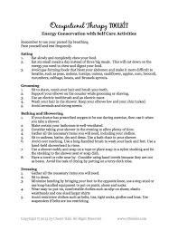 ysabetwordsmith occupational therapy for energy conservation conserving energy in self care