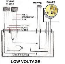 how to wire an electric motor to run on both 110 and 220 volts 110 Volt Plug Wiring Diagram 110 volt plug for the power cord (step 7) and making the connections inside the junction box according to low voltage operation according to the wiring 110 volt outlet wiring diagram