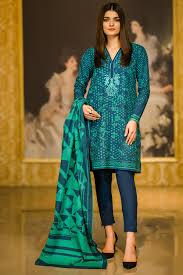 3 Piece Embroidered Khaddar Suit With Khaddar Dupatta