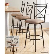 Mainstays Adjustable Metal Swivel Barstools, Antique Brass, Set of 3 -  Walmart.com