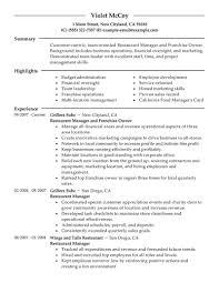 best franchise owner resume example livecareer create my resume