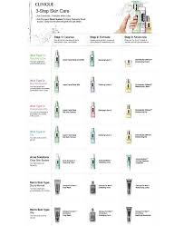 Clinique Skin Types Chart 3 Step Skin Type 1 Very Dry To Dry
