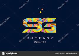 Sg Template Sg S G Colorful Alphabet Letter Logo Icon Template Vector Stock