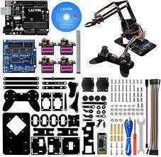 LAFVIN 4DOF Acrylic Robot Mechanical Arm Claw Kit ... - Amazon.com