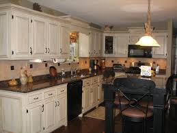 antique white cabinets dark floors. interesting antique white kitchen cabinets and black counters ideas with rustic island dark color granite countertops floors w