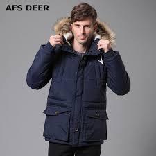 2017 New Men's Quilted Parka Puffer Jacket Hooded Faux Fur Lined ... & 2017 New Men's Quilted Parka Puffer Jacket Hooded Faux Fur Lined Thicken  Warm Coats Outwear Winter Adamdwight.com