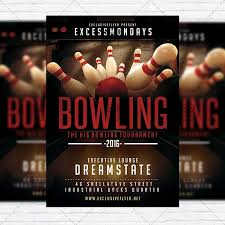 Bowling Event Flyer Template The Big Bowling Premium Flyer Template Instagram Size Flyer