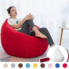 Furniture NESLOTH 90x110cm Soft Bean Bag Chairs Couch Sofa Cover Indoor  Lazy Sofa For di lapak Jenggot Jaga   Bukalapak