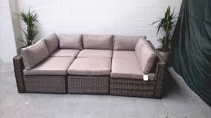 deco garden furniture. Ascot Rattan Garden Furniture Modular Corner Sofa Daybed Set Natural Deco