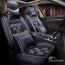 32 excellent leather fabric square weave universal car seat covers