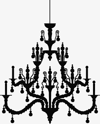 black chandelier silhouette black chandelier sketch png image and clipart