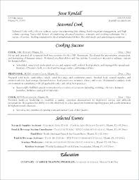 Cook Resume Examples Mesmerizing Fast Food Cook Resume Skills Example Examples For Manager Sample