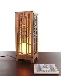Frank Lloyd Wright Lighting Collection Frank Lloyd Wright Robie Art Glass Mini Lightbox Accent Lamp