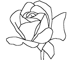 Small Picture Rose Coloring Pages Printable Kleurplaat Pinterest Rose and