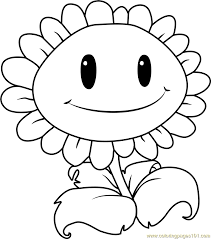 Small Picture Giant Sunflower Coloring Page Free Plants vs Zombies Coloring