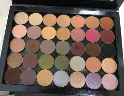 my customised makeup geek eyeshadow palette swatches