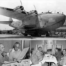 Image result for The long trip via a Boeing 314 Flying Boat named the Dixie Clipper,
