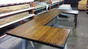 antique heart pine bar top