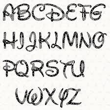 Printable Alphabet Letter Stencil Walt Disney Alphabet Template In