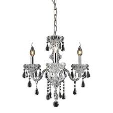 elk lighting cotswold 3 light crystal chandelier in clear w chrome finish