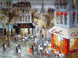 michael rozenvain café view of paris 37 x 47