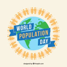 Design With Globe For World Population Day Vector Free