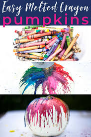 quick easy melted crayon pumpkin tutorial this is such a por fall craft