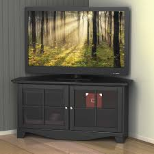 view gallery of black corner tv cabinets with glass doors showing 3