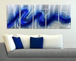 blue metal wall art blue silver modern metal wall sculpture abstract metallic hanging large contemporary wall on modern abstract metal wall art uk with blue metal wall art blue silver modern metal wall sculpture abstract