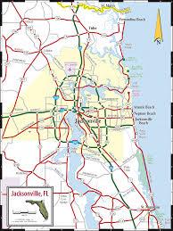 jacksonville  northeast florida map