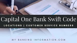 Capital One Bank Customer Service Capital One Swift Code Locations Customer Service My Banking