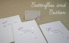 wedding stationery butterflies and button range handmade Handcrafted Wedding Stationery Uk wedding stationery butterflies and button range luxury handmade wedding invitations uk