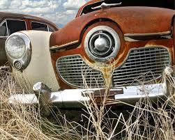 studebaker grill photograph this classic car was found in a junkyard near minden nebraska
