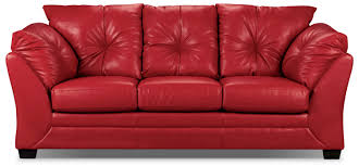 living room furniture max faux leather full size sofa bed red