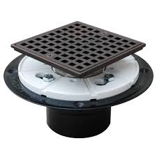 abs square head shower pan drain in oil rubbed