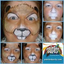 beaver design by denise cold of painted party face painting paintedparty com in