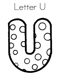 Letter U Dots Alphabet Coloring Pages