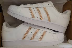adidas shoes superstar rose gold. adidas unisex superstar original white (rose gold crystals) shoes rose r
