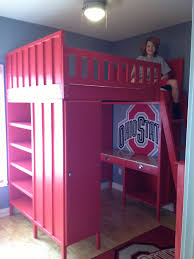 Ohio State Bedroom Ana White Cabin Loft Bed Osu Design Diy Projects