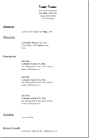 ... Generic Resume Template 15 This Is The Plain Jane Old School Format.