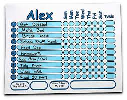 Chore Chart Personalized With Your Childs Name Write Chores Goal And Reward With Dry Erase