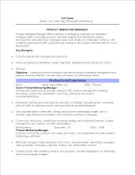 Resume Of Product Marketing Manager Templates At