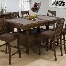 arlington round sienna pedestal dining room table w chestnut finish. jofran trumbull tile top counter height storage dining table - $529.99 arlington round sienna pedestal room w chestnut finish