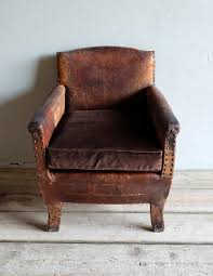 small leather chair. French Antique Leather Armchair Small Chair P