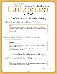 what you need for a wedding checklist the catholic wedding planning checklist from together for life online