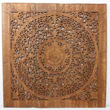 strata furniture lotus panel teak wall art 36  on lotus panel wall art with strata furniture lotus panel teak wall art 36 in ebay