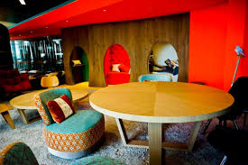 google office london. today we present to you london office of google a nice mix u002770s style and bizarre products constructed with recyclable materials